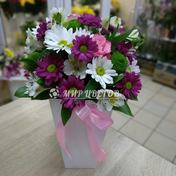 Цветы в плайм пакете