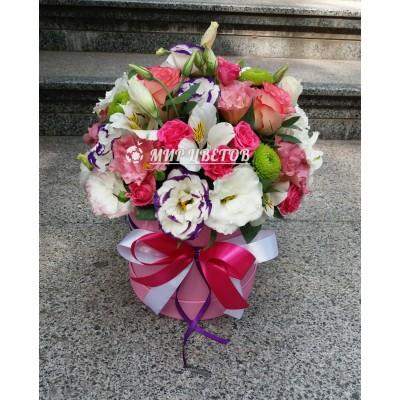 Шляпная коробка с цветами, Flowerbox