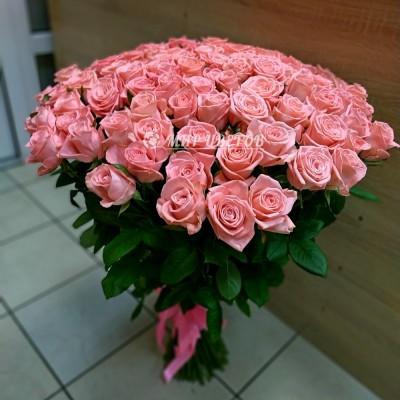 101 Розовая роза 90см