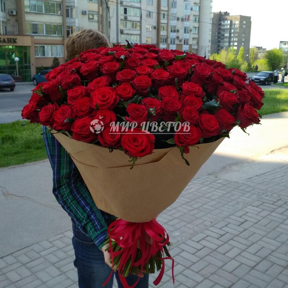 101 красная роза Элит