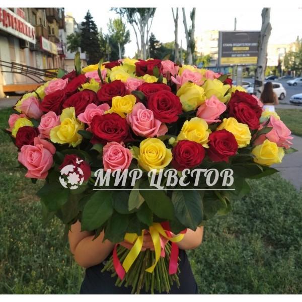101 роза микс для любимой