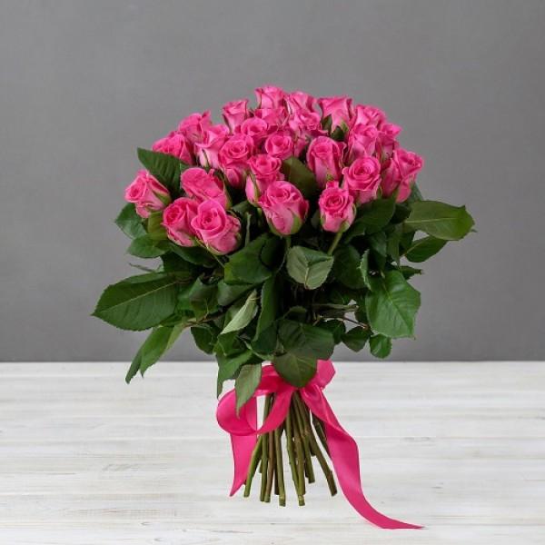 Букет Малиновых Роз 50см