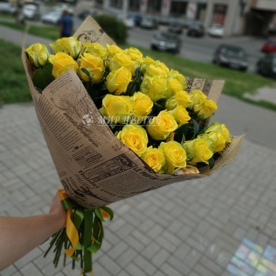 Букет 35 желтых роз
