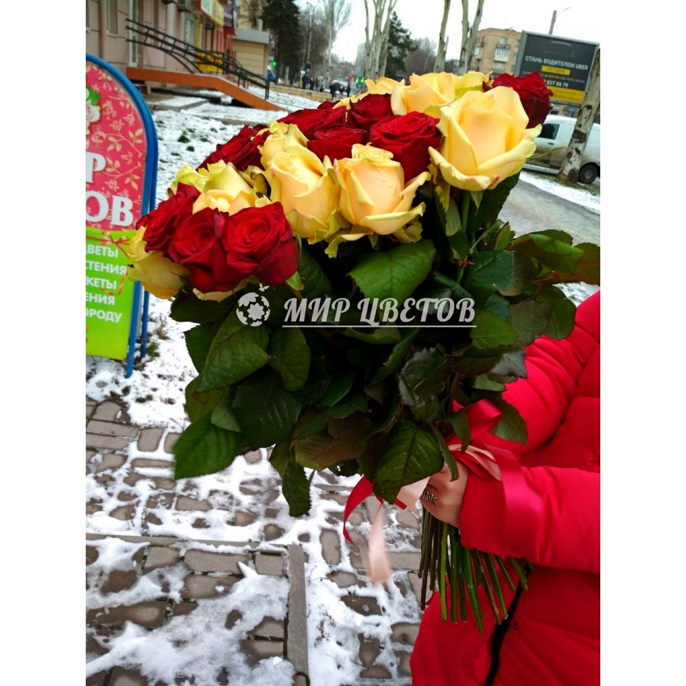 Букет 45 красных роз Эльторо