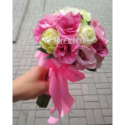 Свадебный Букет 49 бело-розовый