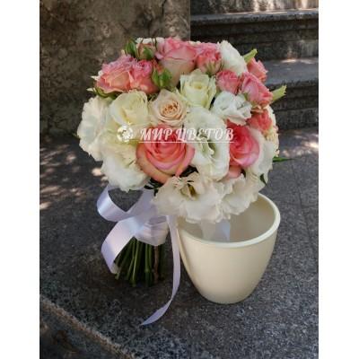 Свадебный Букет 52 большой микс роз