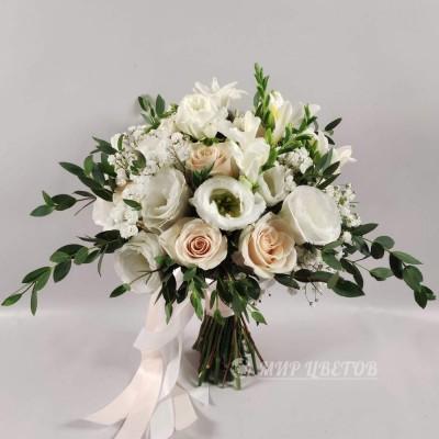 Свадебный Букет 70 кремово-белый