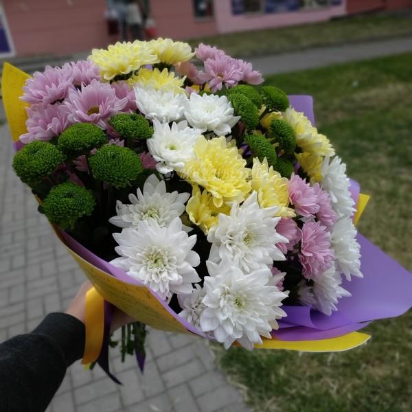 Букет Лето - микс хризантем
