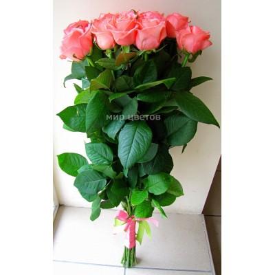 Букет 15 Розовых Роз 80см
