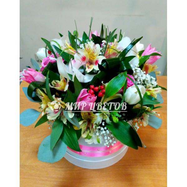 Коробка Шляпная Премиум  flowerbox