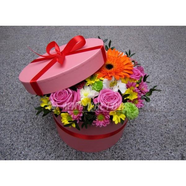 Коробка Шляпная  flowerbox