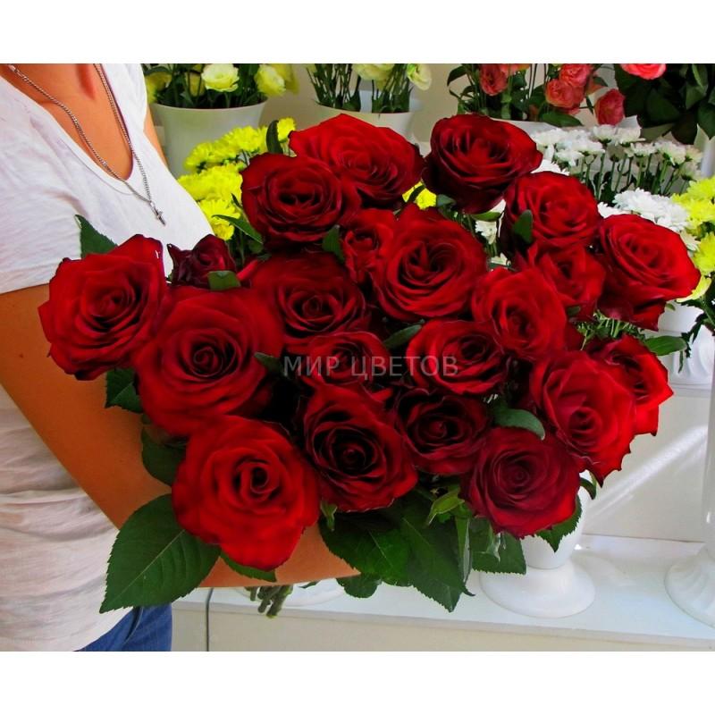 Букет 21 бордовая роза