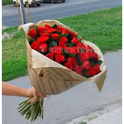 Букет 31 Красная Роза Эльторо