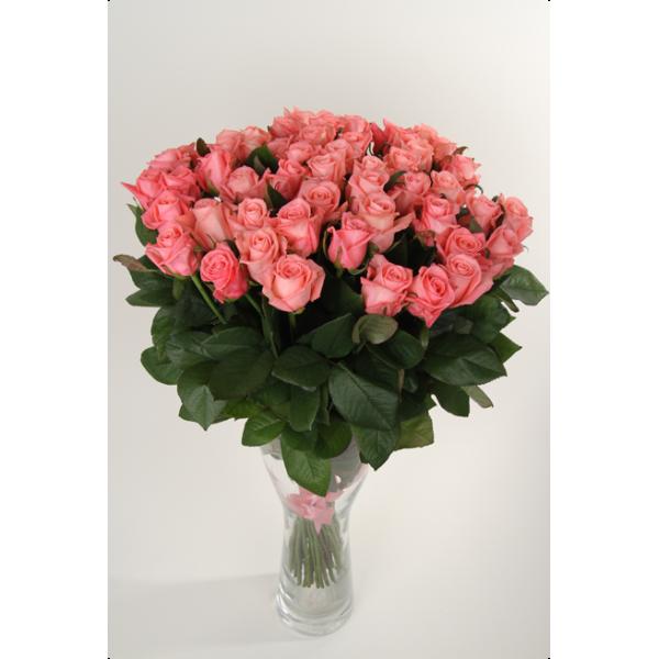 Букет 31 Розовая Роза 80см
