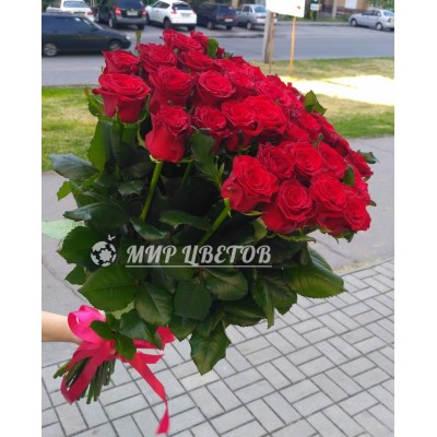 Букет 35 Красных Роз Престиж