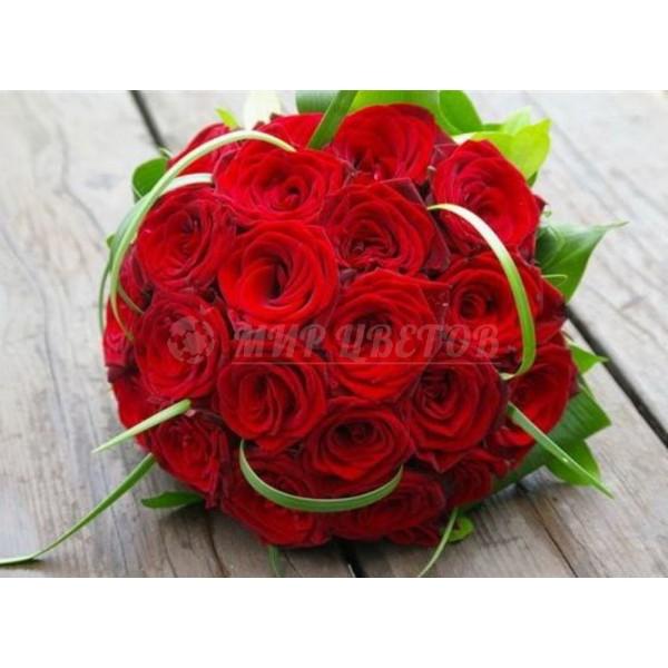 Свадебный Букет 35 торжественный красный