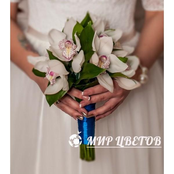 Свадебный Букет 24 орхидеи цимбидиум
